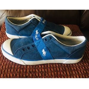 Polo Ralph Lauren Sneakers Mens Blue & White 10.5